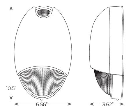 Indoor / Outdoor Decorative Emergency Light Dimensions