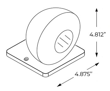 Emergency Light Remote Head   MR16   6 Volt Dimensions